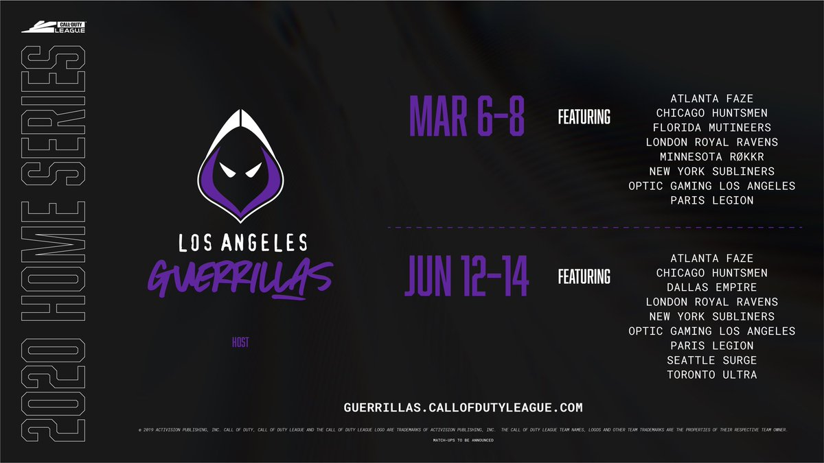 Los Angeles Guerrillas On Twitter Featured Teams