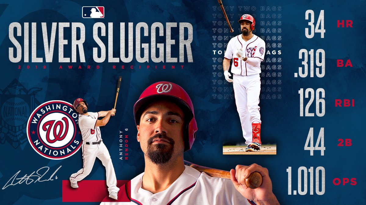 • All-Star • World Series champion • Silver Slugger Its been a heckuva season for Anthony Rendon. #CHAMPS // #FIGHTFINISHED