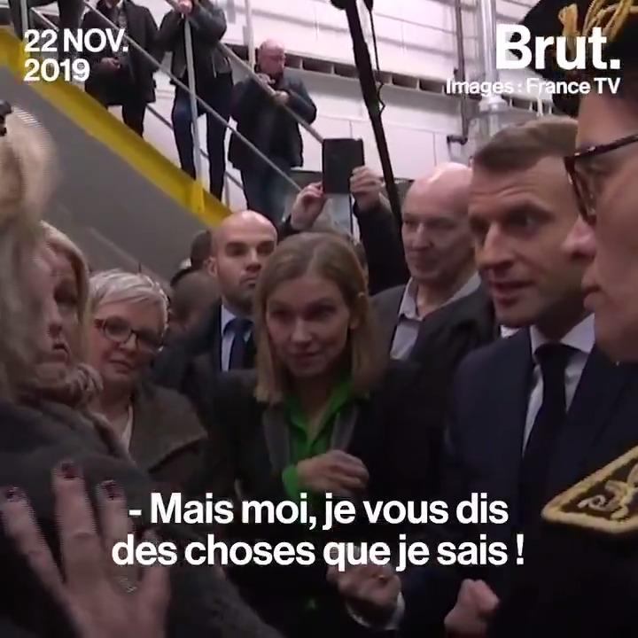 Là, vous êtes dans le vrai monde ! Emmanuel Macron face aux ex-salariés de #Whirlpool, dont beaucoup ont été laissés sur le carreau après la fermeture de leur usine. Un échange musclé.