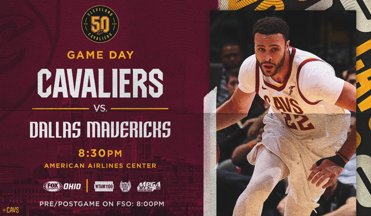 Closing out the road trip tonight in Dallas!  #CavsMavs PREVIEW: http://bit.ly/2KFD5bh  #BeTheFight