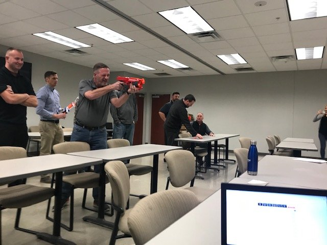 test Twitter Media - Our sales team Kate Orara, Cara Headrick, and Jason Welch training the @Think_BlueStar  sales reps. Our Turkey Shoot + Bingo training games were great! The winners at #BlueStar: 1st Place Josh Overton, 2nd William McDougall, 3rd John Snebold.  https://t.co/KMBbnMWWbD https://t.co/iMYiiEcuYZ