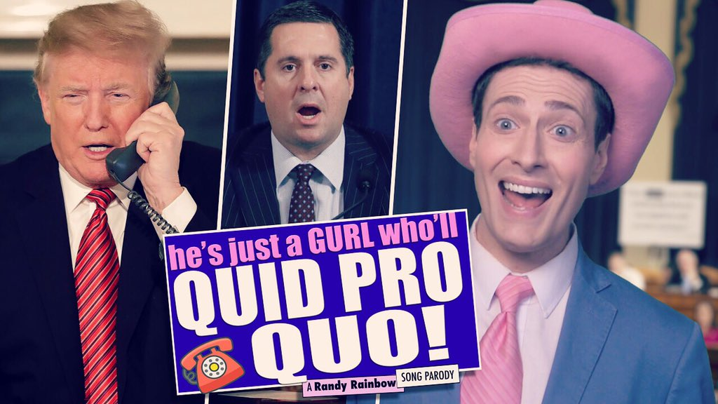 Replying to @RandyRainbow: New Video! #QuidProQuo #ImpeachmentHearing #gurl 🇺🇦🤠💋