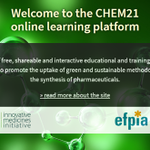 Image for the Tweet beginning: Our CHEM21 project's online platform
