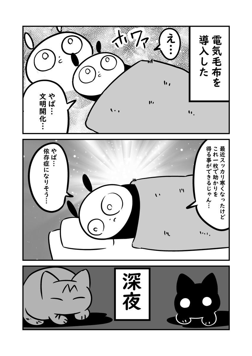 猫漫画 新しく電気毛布を買ったのに今朝から電気毛布が使えなくなってしまった #ぬら次郎日記