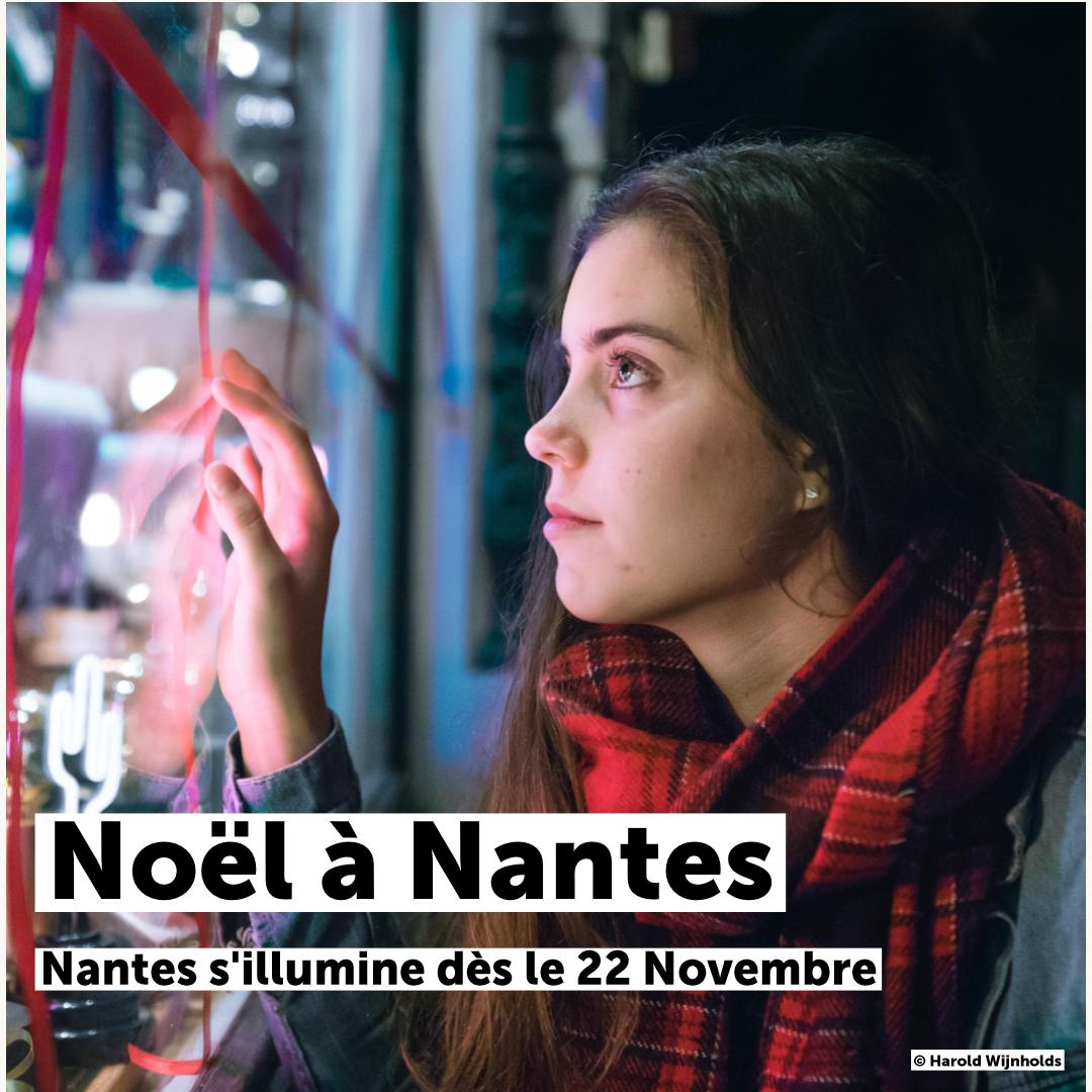 On se met dans l'ambiance de #Noël ! Toutes les infos pour #NoelANantes sont là 👉 bit.ly/NoelaNantes 🎄 Ce soir lancement du marché de Noël et des illuminations 🎄 Le Passage Pommeraye est déjà aux couleurs de Noël 🎄 Programme #NantesEnFetes disponible dès samedi #Nantes