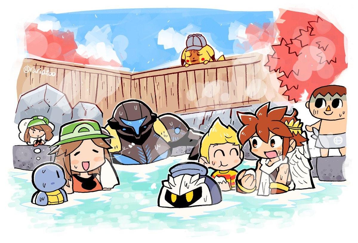 風呂ブラ#スマブラSP #スマブラ温泉