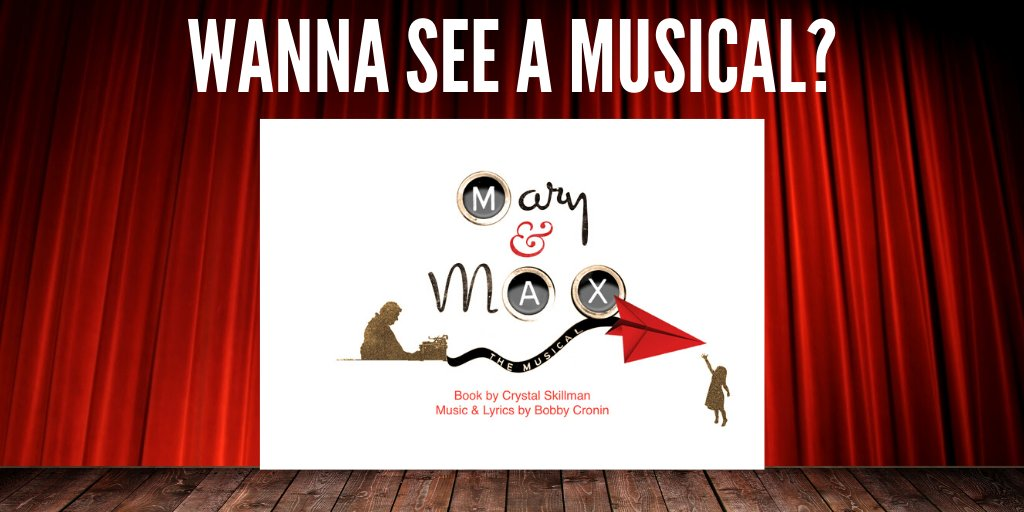 Mtr On Twitter Wanna See A Musical What Mary And Max Where Theatre Linz Austria When November 7 To December 31st 2019 Ticket Info Https T Co Cjdmcqfjdh Https T Co Ismci65ji2
