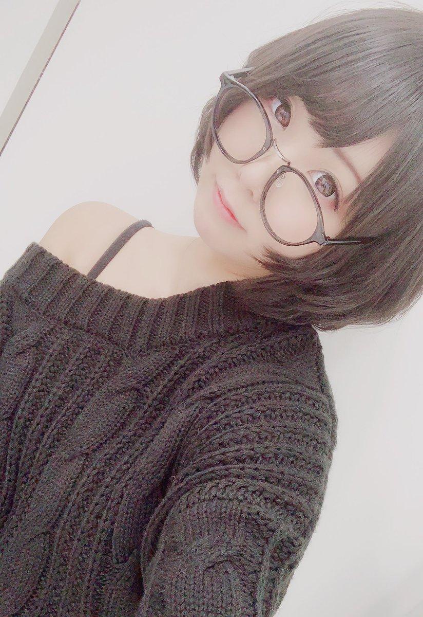この前の撮影のお洋服(*´∀`*)❤️黒ニット…!