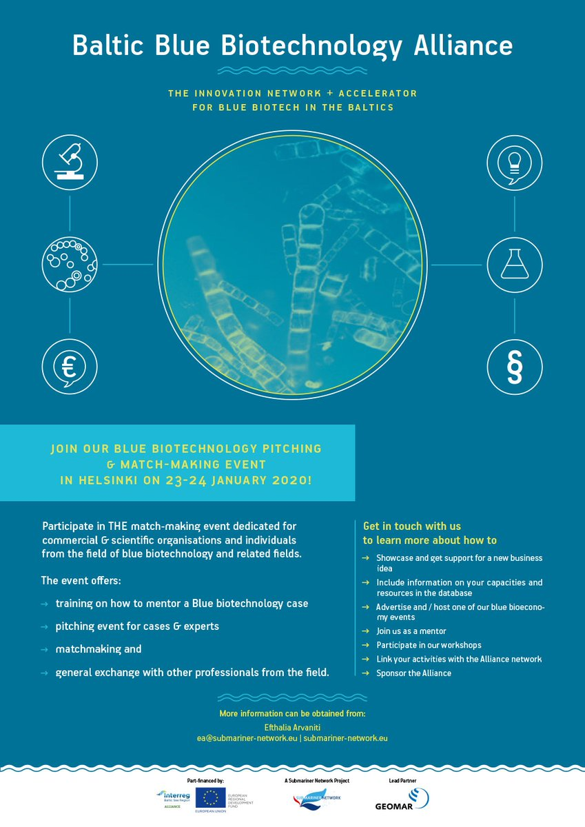 Just 3 steps to join #MadeWithInterreg Baltic Blue #Bioeconomy Accelerator: receive product development services & make the most out of 26 success cases already in place. #Interreg #BalticSeaRegion #biotechnology