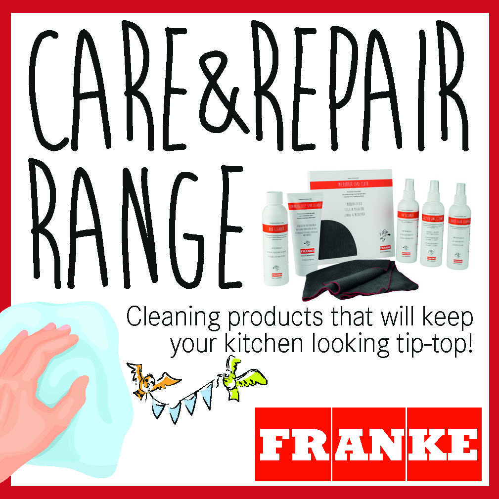 It's easier to keep your #kitchen sparkling with our Care & Repair range. From Stainless Steel #Sink Cleaner to Cooker Hood Cleaner, we've got it all! ow.ly/8crV50wWdZL