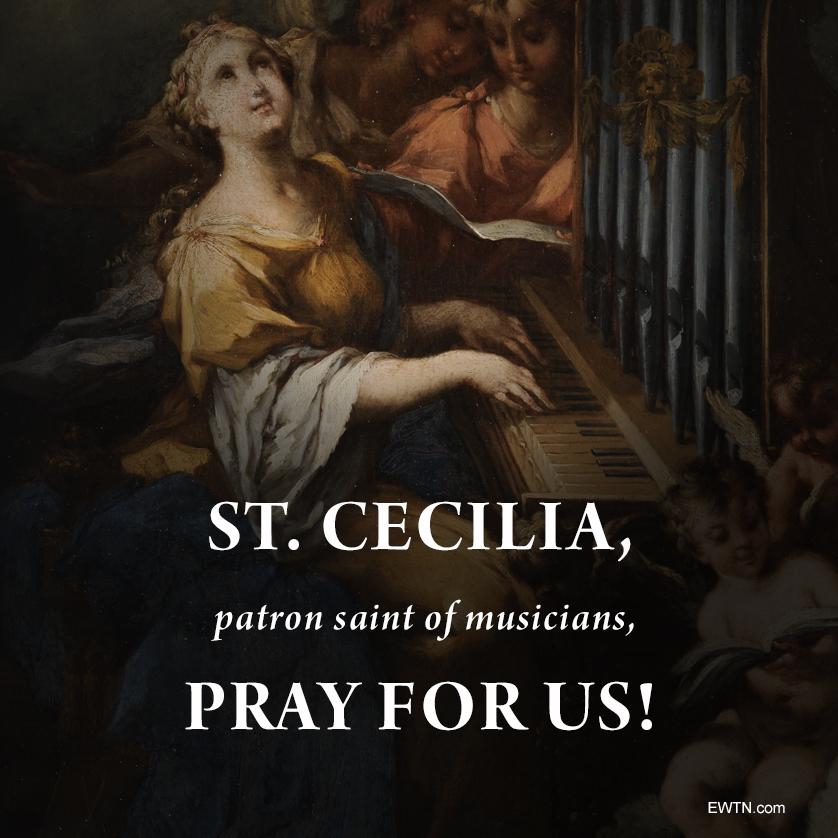 @EWTN's photo on St. Cecilia