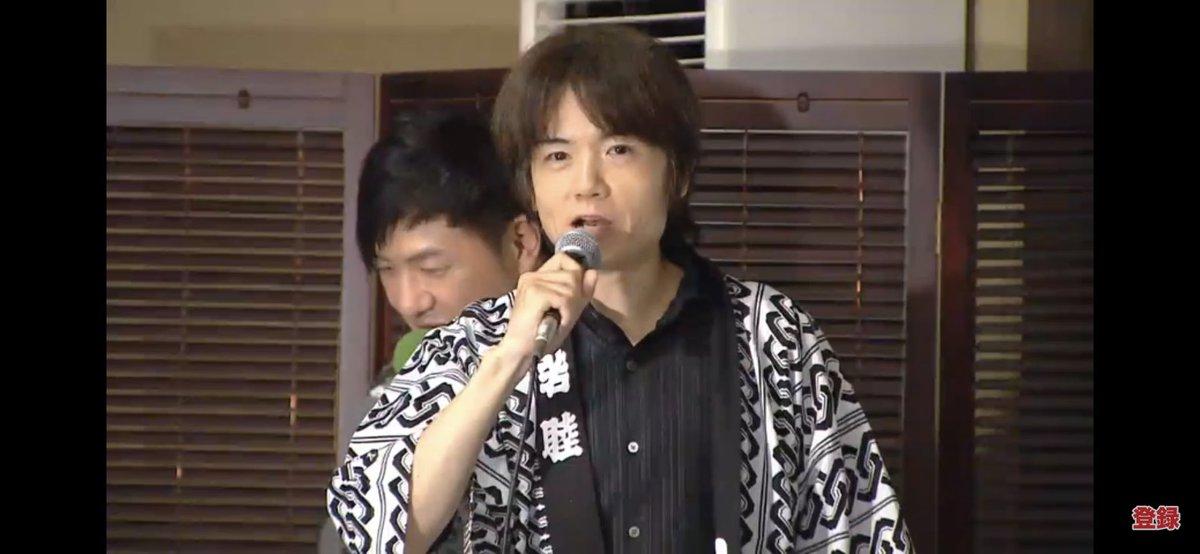 まさかの櫻井さん登場www櫻井さん「皆様がまだ知らないキャラクターを作った後、退社してここに来ました」 #スマブラ温泉