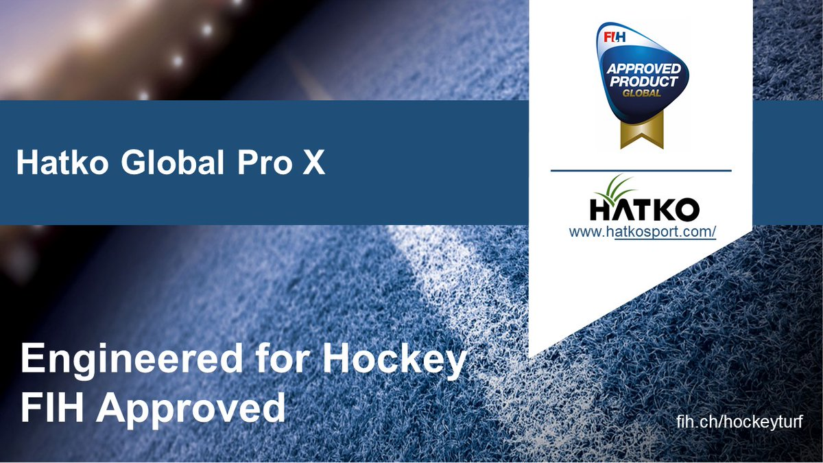 Congratulations @hatkosports, Hatko Global Pro X is now an FIH Global approved product!