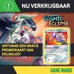 De nieuwe trading cards van Pokémon - Cosmic Eclipse zijn nu verkrijgbaar! 🔥  Check alle cards hier 👉 https://t.co/SKsSaReq5l en krijg een gratis Solgaleo kaart bij aankoop van minimum €10 aan Cosmic Eclipse producten! 😍