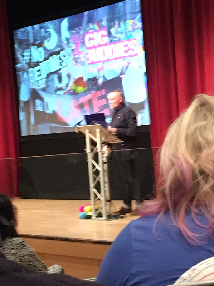 """test Twitter Media - We're loving hearing from @StayUpLateUK about @gigbuddies supporting people with learning disabilities to live a great life """"we should be treated the same"""" here here! #nobedtimes #ncasc19 https://t.co/jgdQBtU1qV"""