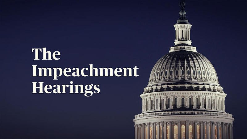 Replying to @wosunews: Watch Live: Trump Impeachment Inquiry Day 4