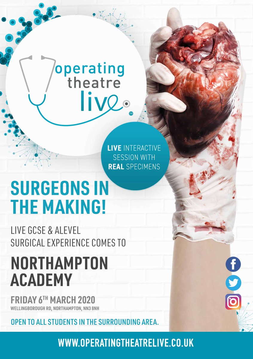 Calling secondary schools in Northants, we are hosting Operating Theatre Live in March, an opportunity for your aspiring medical students to gain hands-on experience of an operating theatre. Find out more: ow.ly/HSOk50x4wjm #northantshour #secondaryschools #STEM