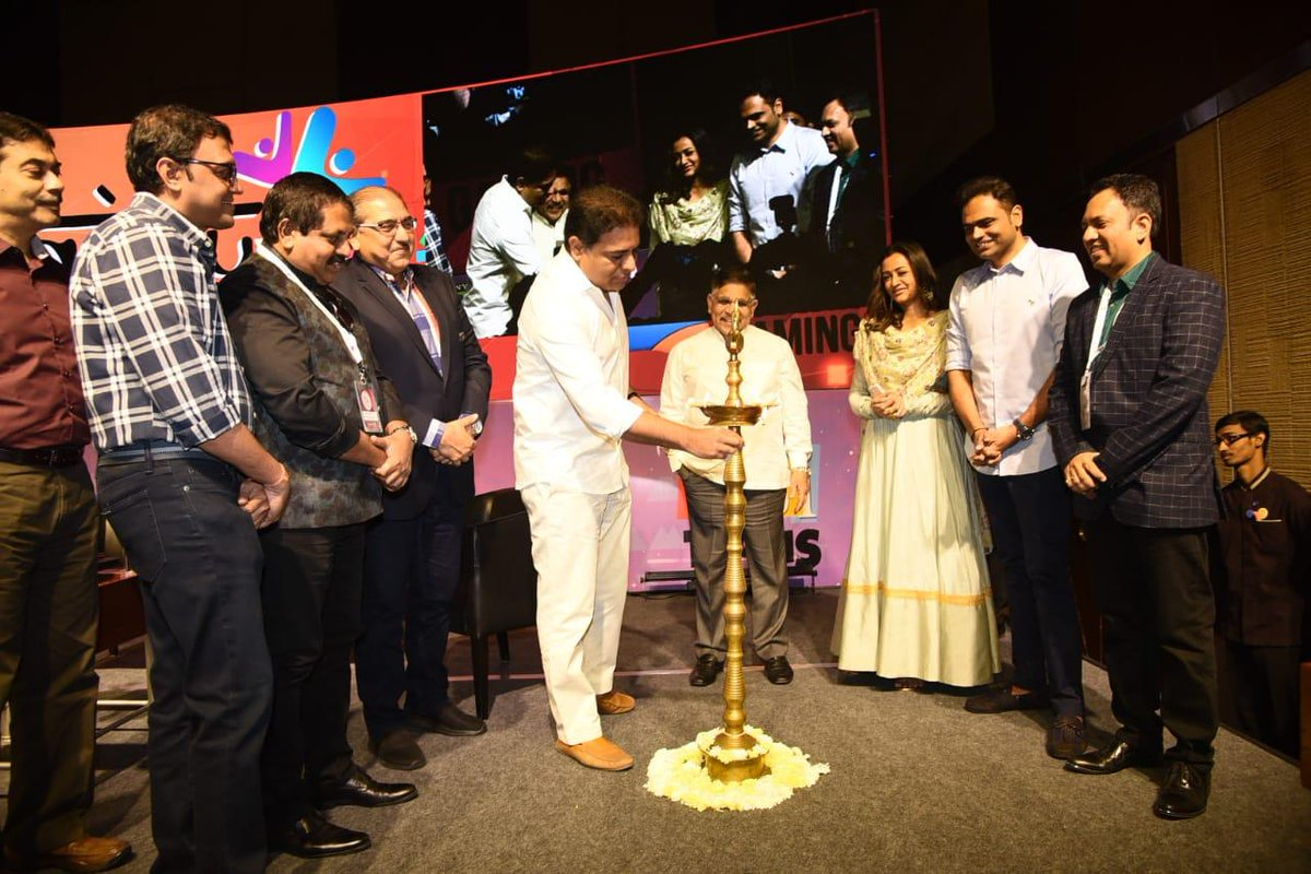 #IndiaJoy - A signature move by the Telangana State Govt and our Honble minister @KTRTRS garu, aiming to promote VFX artists, Animators, Gaming Industry and turning Hyderabad into a hub for South Asian Cinema. Looking forward to more visually stunning and content-rich films.