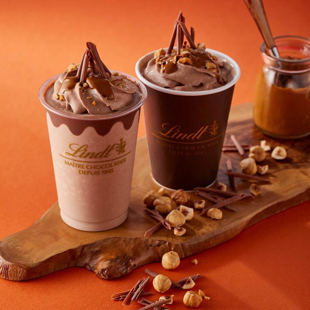 リンツの新チョコレートドリンク - キャラメル香る甘いミルクチョコに、ナッツをたっぷり -