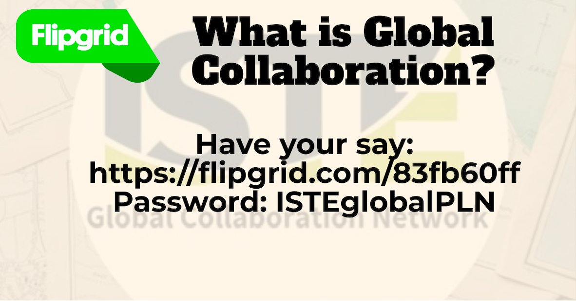 Join @isteglobalpln as we discover what is Global Collaboration and how can we make the world flatter.