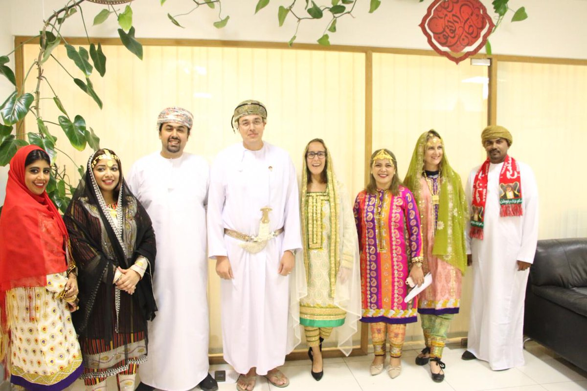 The #Muriya family geared up to celebrate our beloved Oman's 49th National day 🇴🇲 Here's a glance of our staff looking amazing as they spent the day celebrating this wonderful occasion. https://t.co/zvaGarMhcs