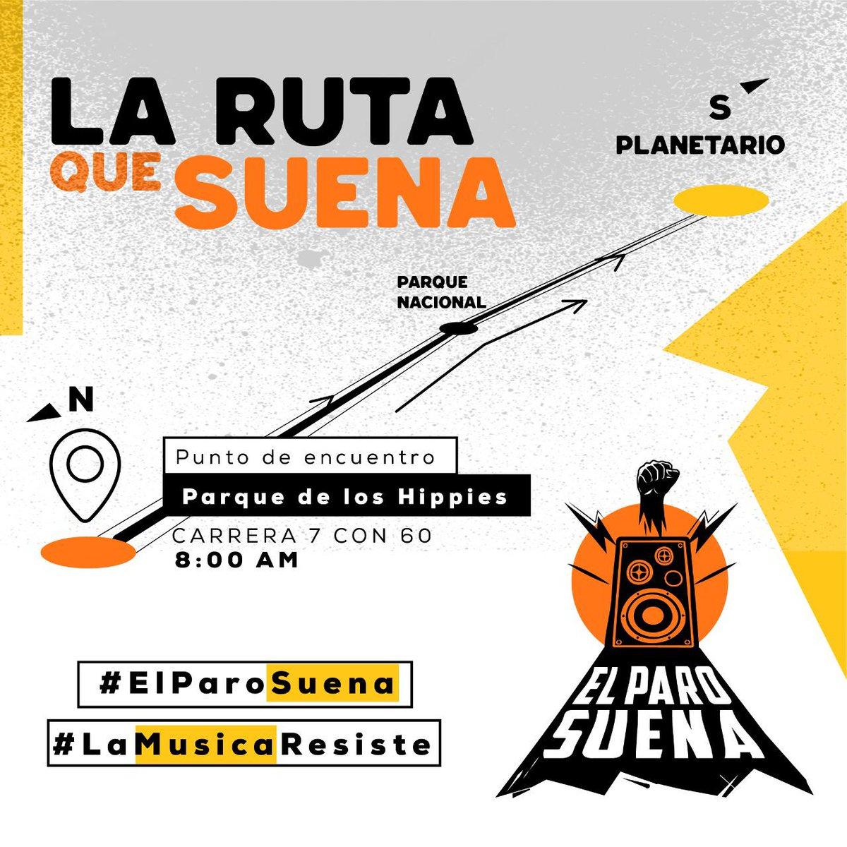 ¡Esta es la ruta que sonará! #NosUneLaMúsica  #21N #ElParoSuena #LaMúsicaResistepic.twitter.com/kVlTZgZukL