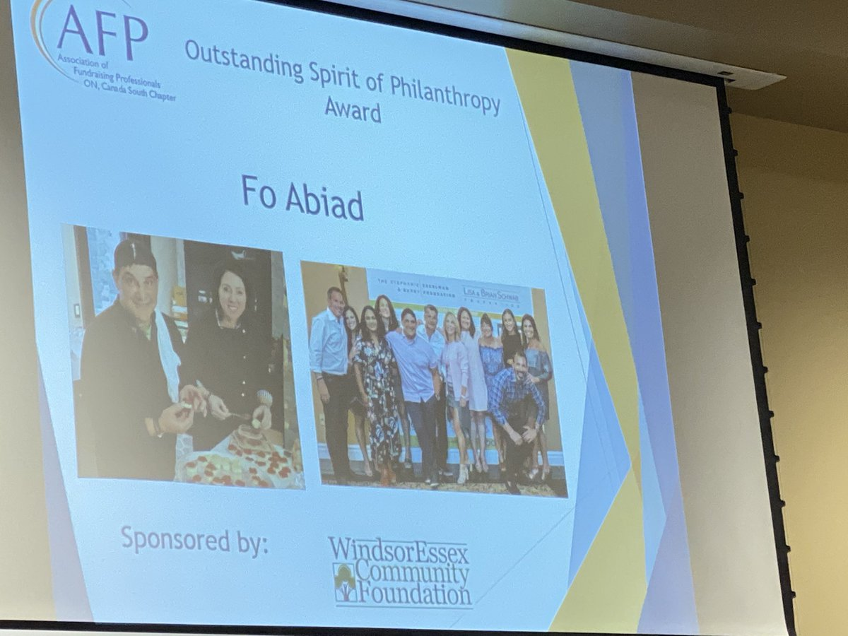 test Twitter Media - Congrats to Fo Abiad for Spirit of Philanthropy award @AFPCanadaSouth #NationalPhilanthropyDay @T2BWindsor #YQG https://t.co/TCqpEltzWO