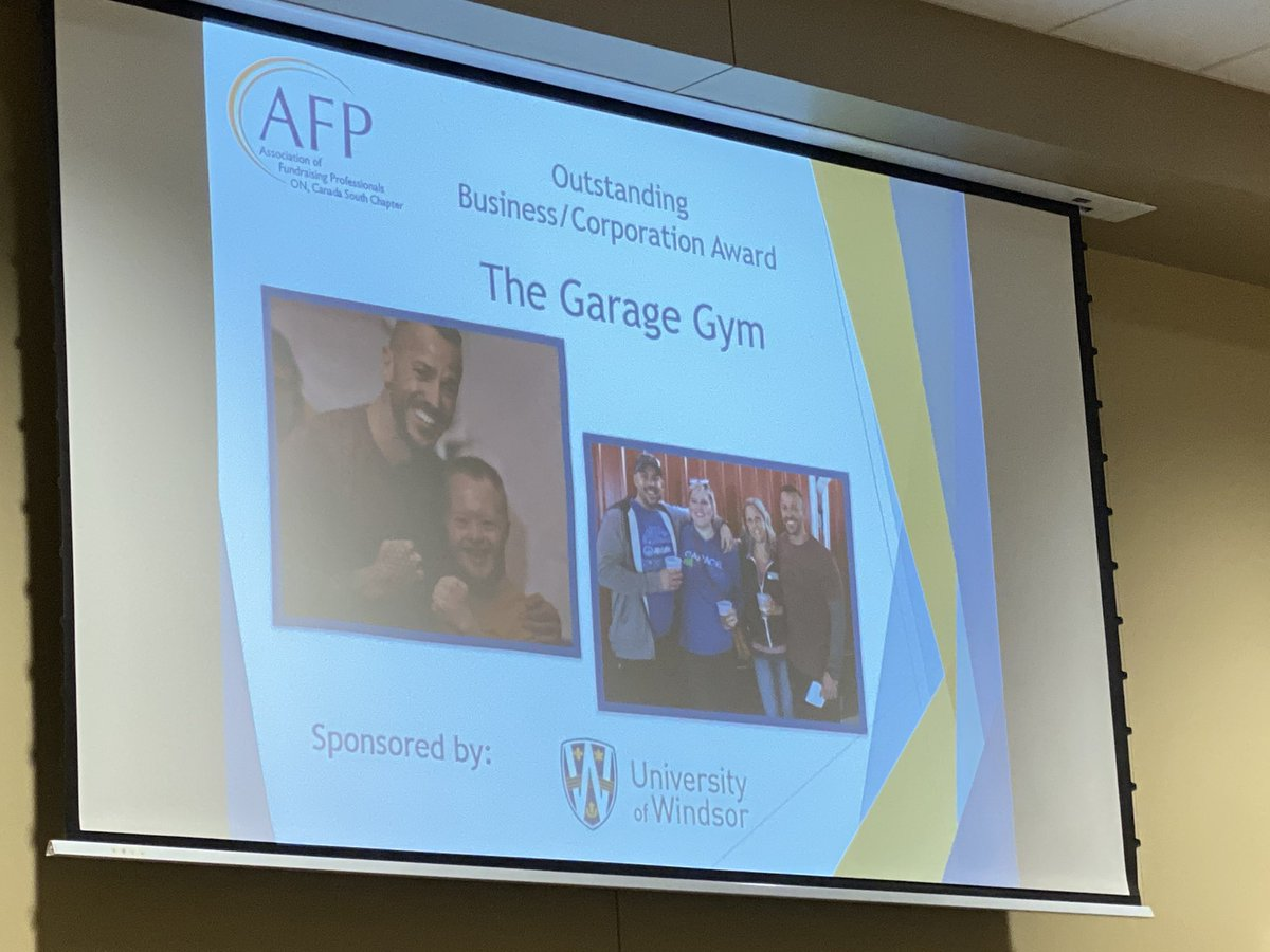 test Twitter Media - Next up The Garage Gym for Outstanding #Business/ #Corporation @AFPCanadaSouth awards #nationalphilanthropyday in #YQG @UWindsor What a great community we are part of ! https://t.co/dYrFUxeKD4