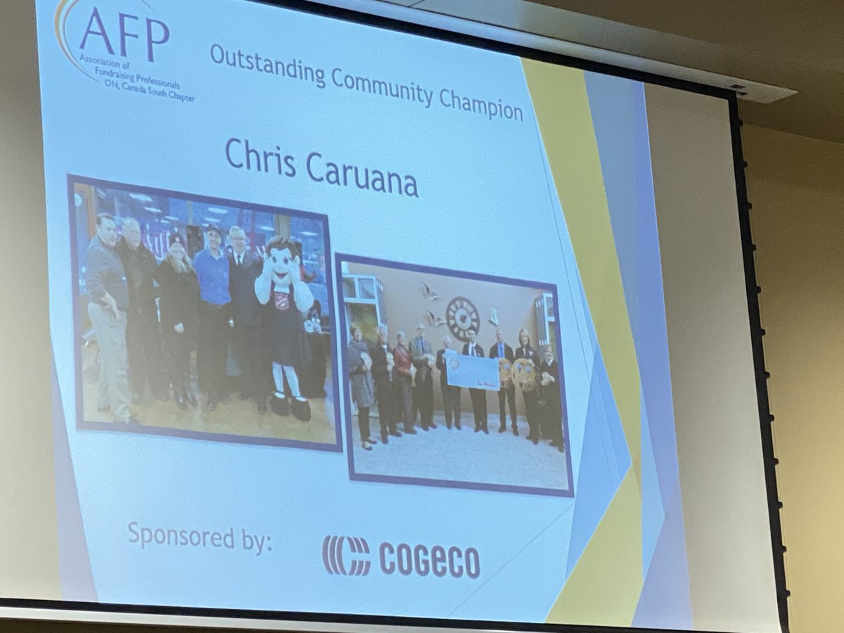 test Twitter Media - We are happy to put spotlight on #philanthropy today. Next - Chris Caruana @TimHortons as Outstanding #community Champion @AFPCanadaSouth #nationalphilanthropyday #YQG Thank you Chris! https://t.co/YbxgQTiqp6