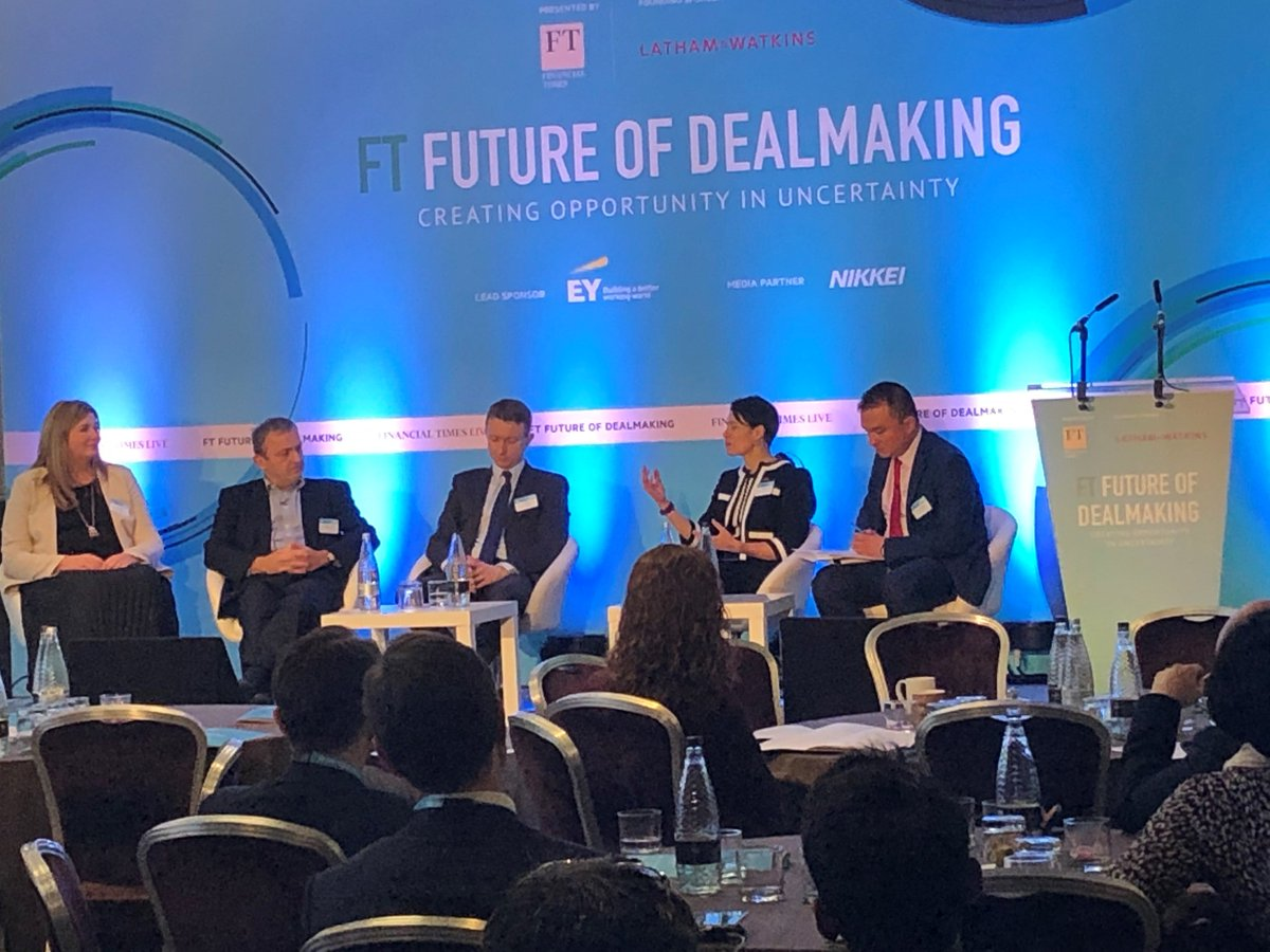 The challenges of doing deals in a volatile environment. #EY's Lisa Ashe talks about what companies can do to get transactions over the line in uncertain times #CapitalAgendaBlog #FTDealmakers panel https://go.ey.com/37iSicg