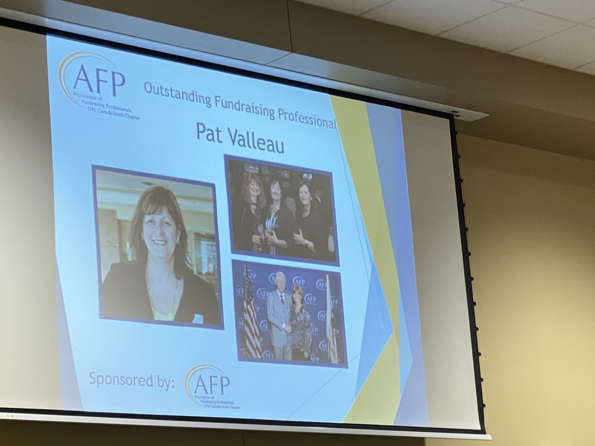 test Twitter Media - Congrats Patricia Valleau - Outstanding #fundraising Professional @AFPCanadaSouth #nationalphilanthropyday #YQG https://t.co/hFTM1VCpxg