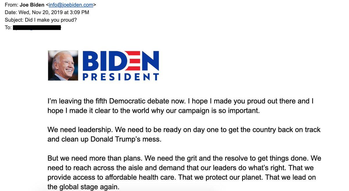Team Biden Accidentally Sends Out Post-Debate Email Hours Before Debate Begins