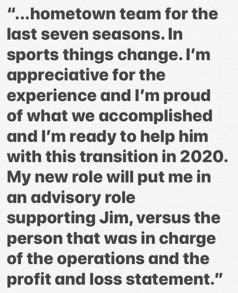 """Reid Ryan (@robertreidryan) is at the MLB owners meetings in Arlington as he transitions from being #Astros president of business operations to executive adviser, business relations: """"I want to thank Jim. It's been an incredible opportunity to get to serve as president of my.."""""""