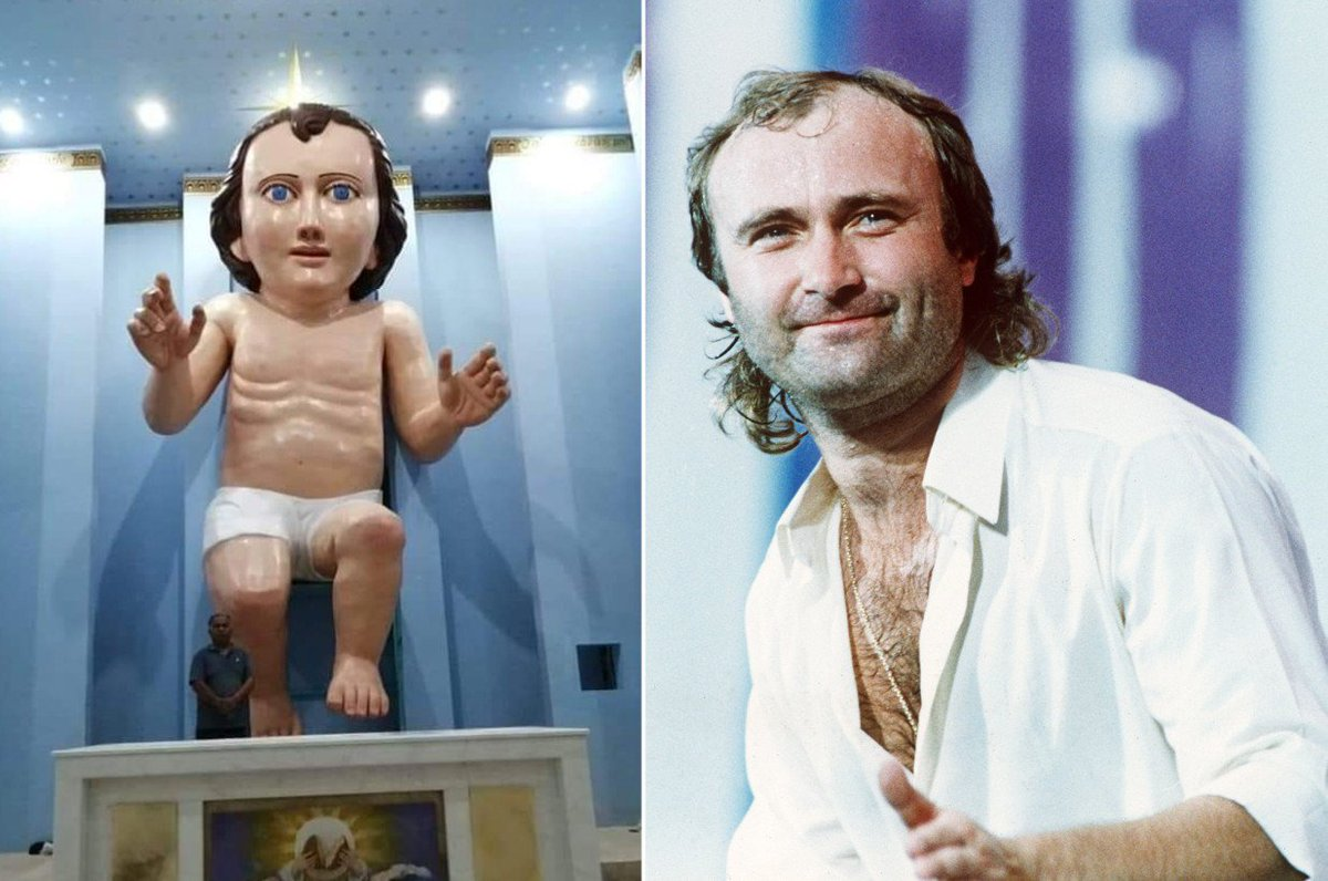 Church builds a baby Jesus that looks exactly like Phil Collins