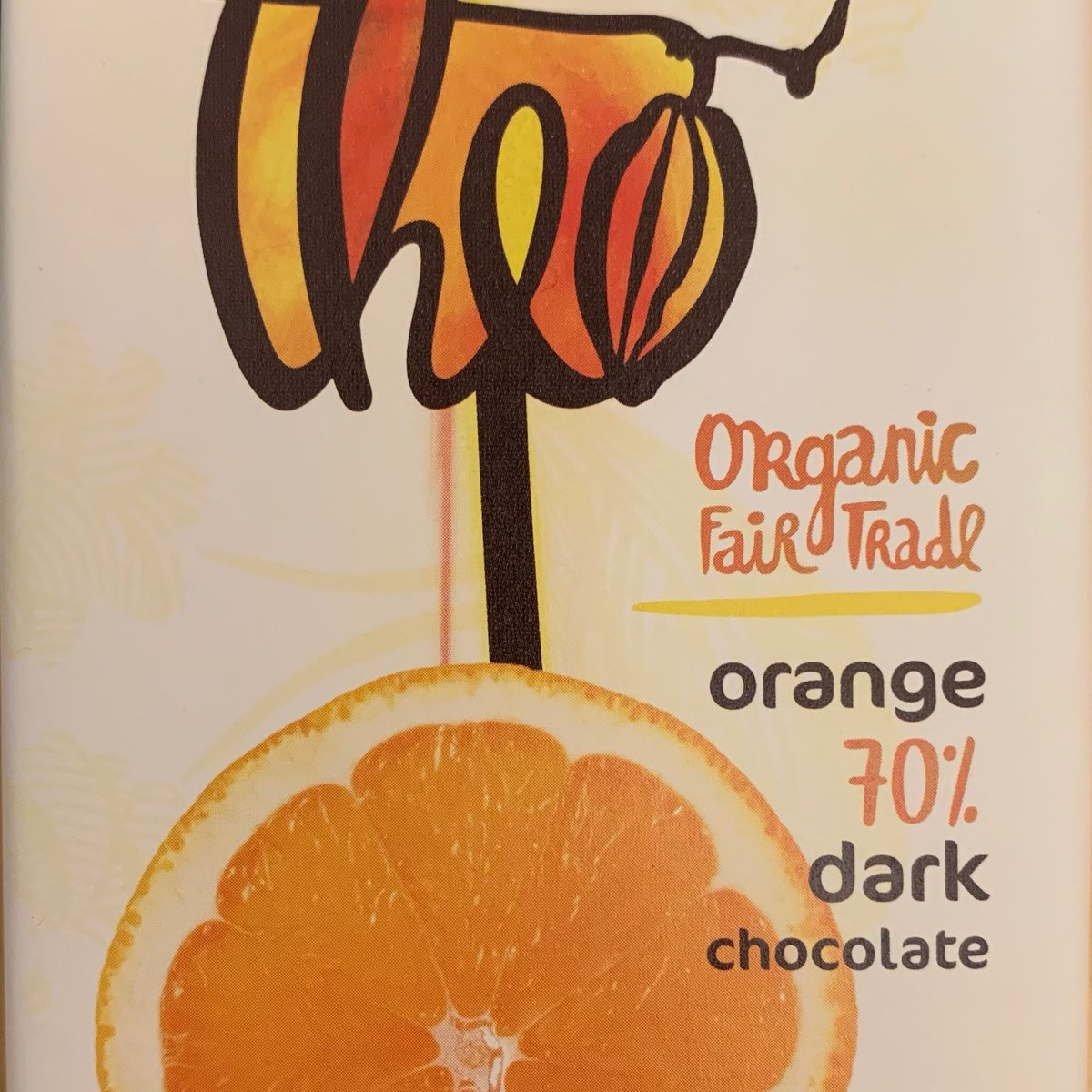 Theo dark chocolate with orange