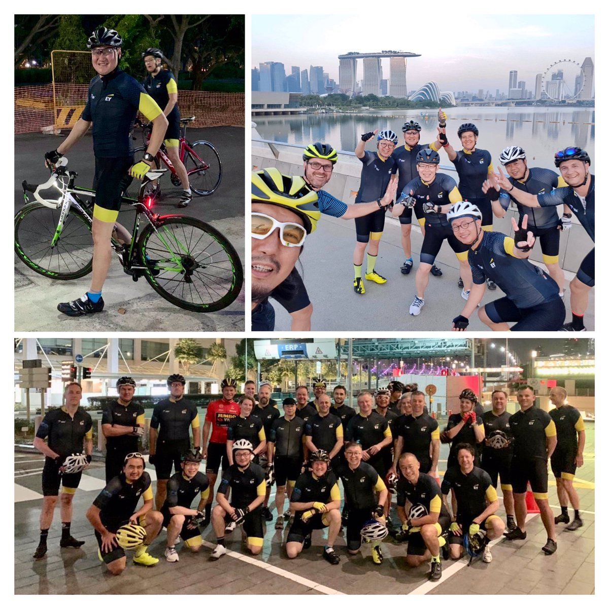 Building #better #connections with like-minded Partners at the #EY Asia Pacific Partners' Conference 2019 with an invigorating early morning 530am ride along the scenic east coast park followed by a hearty breakfast back at MBS! @chowsanghoe