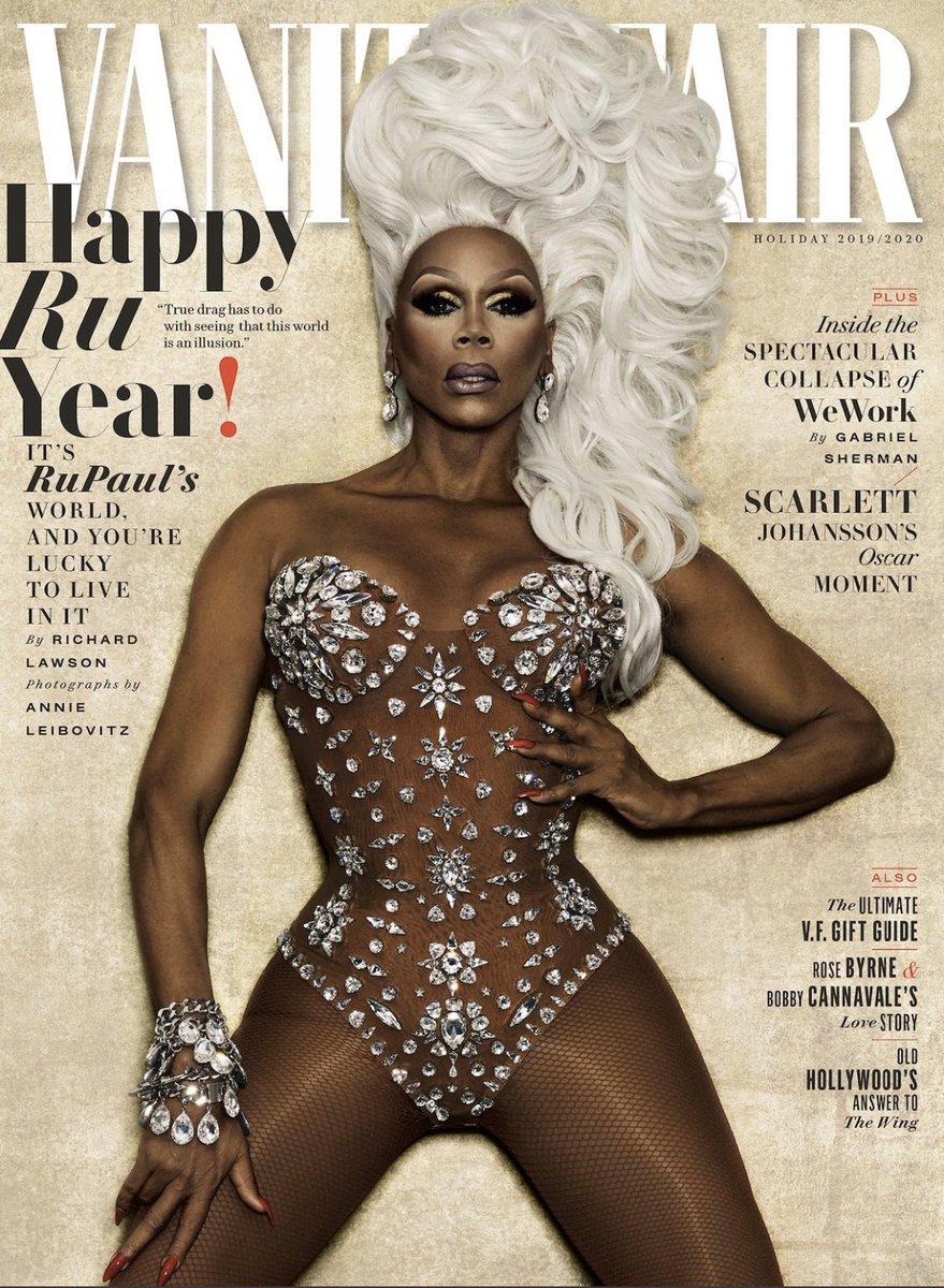 Condragulations @RuPaul Stunning!! @VanityFair covergurl January 2020!!!