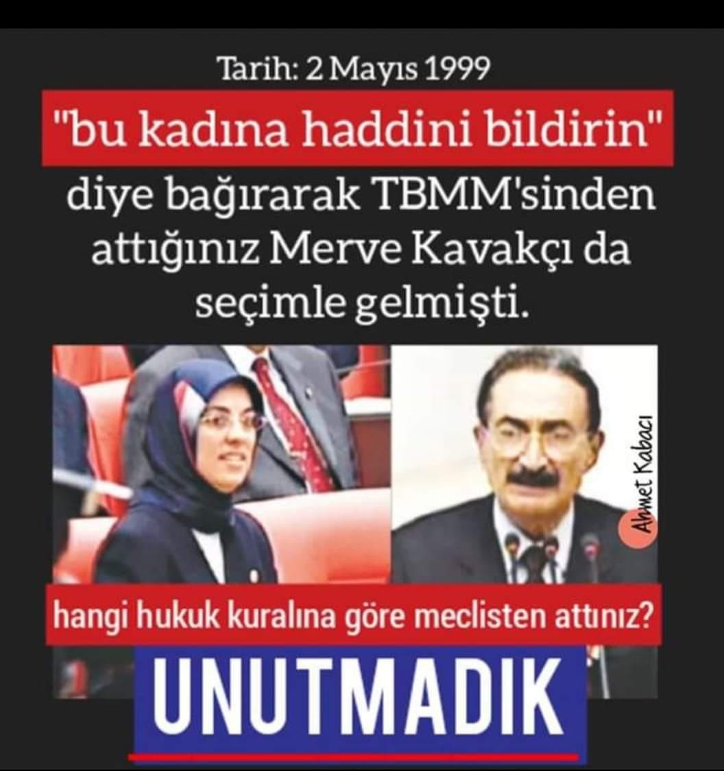 """ℋ𝓊̈𝓁𝓎𝒶 𝒴𝓊𝓇𝓉🇹🇷 on Twitter: """"Yıl 1999: """"Lütfen bu hanıma haddini bildiriniz"""" CHP=Bülent Ecevit Merve Kavakçı başörtülü olduğu için TBMM'den kovuldu. Yıl 2019: """"Bu hanımefendiye haddini bildirin"""" CHP'den Ak Partili vekil Özlem Zengin'e"""