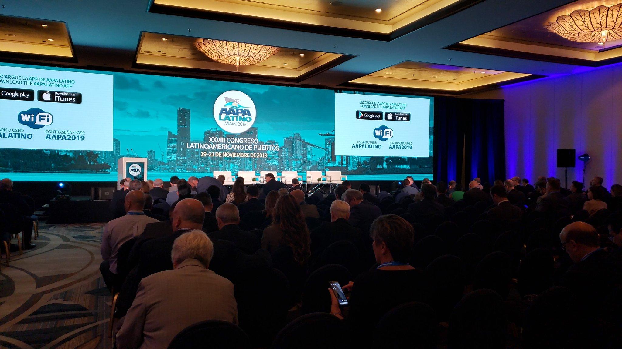 Sólidas presencias en el congreso de puertos de la AAPA