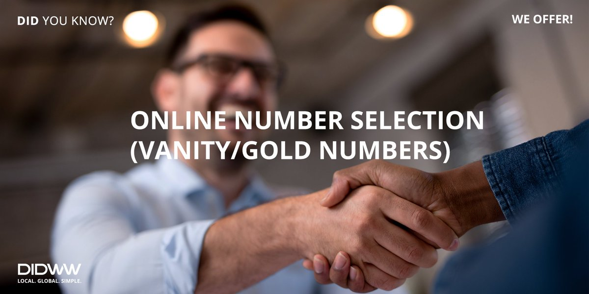 Please follow the link for more information: https://pos.li/2dtg58  #DIDWWservices #numberselection #Goldnumbers pic.twitter.com/u19eVyDBQT