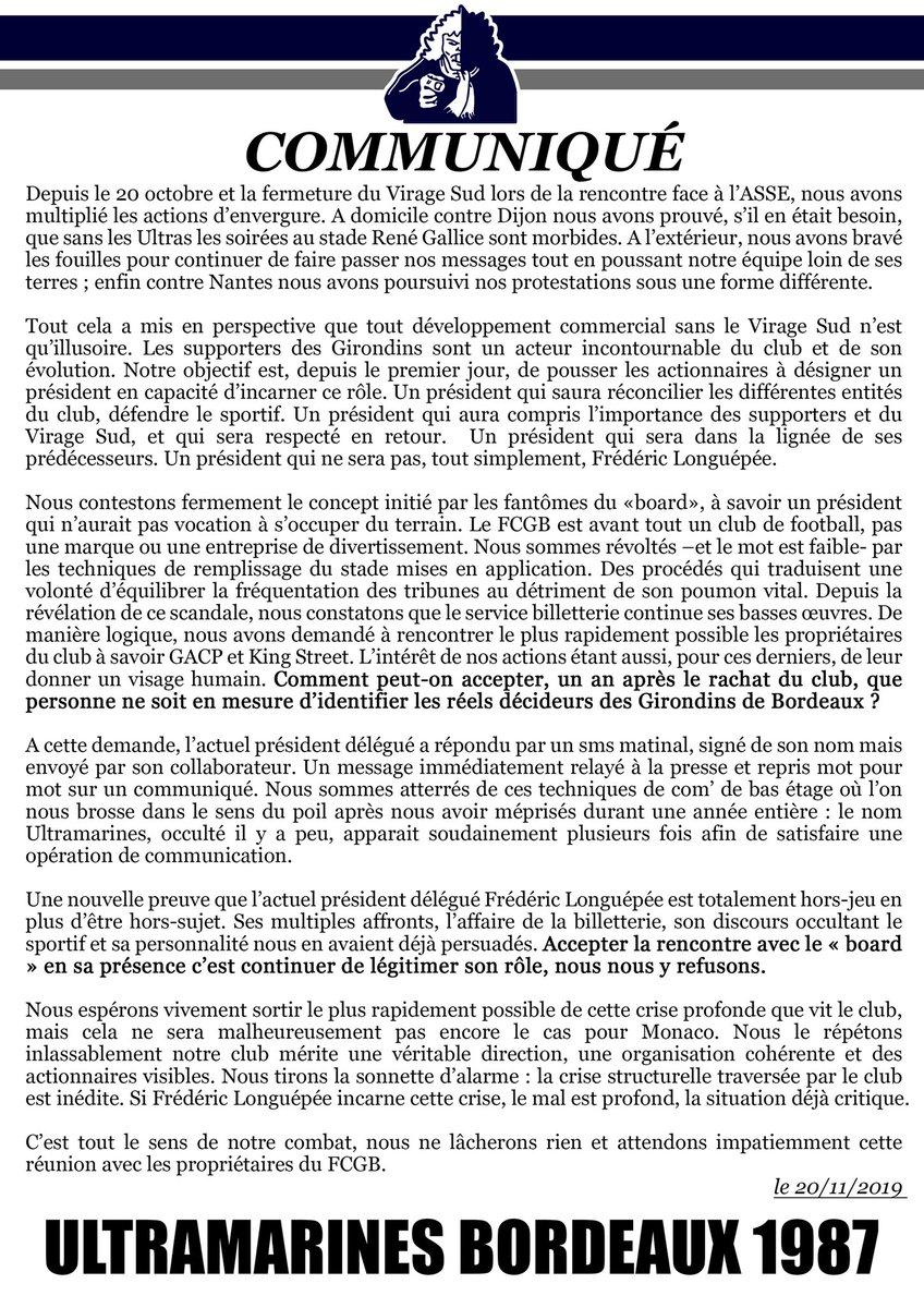 Bordeaux : les Ultramarines refusent de rencontrer Frédéric Longuépée