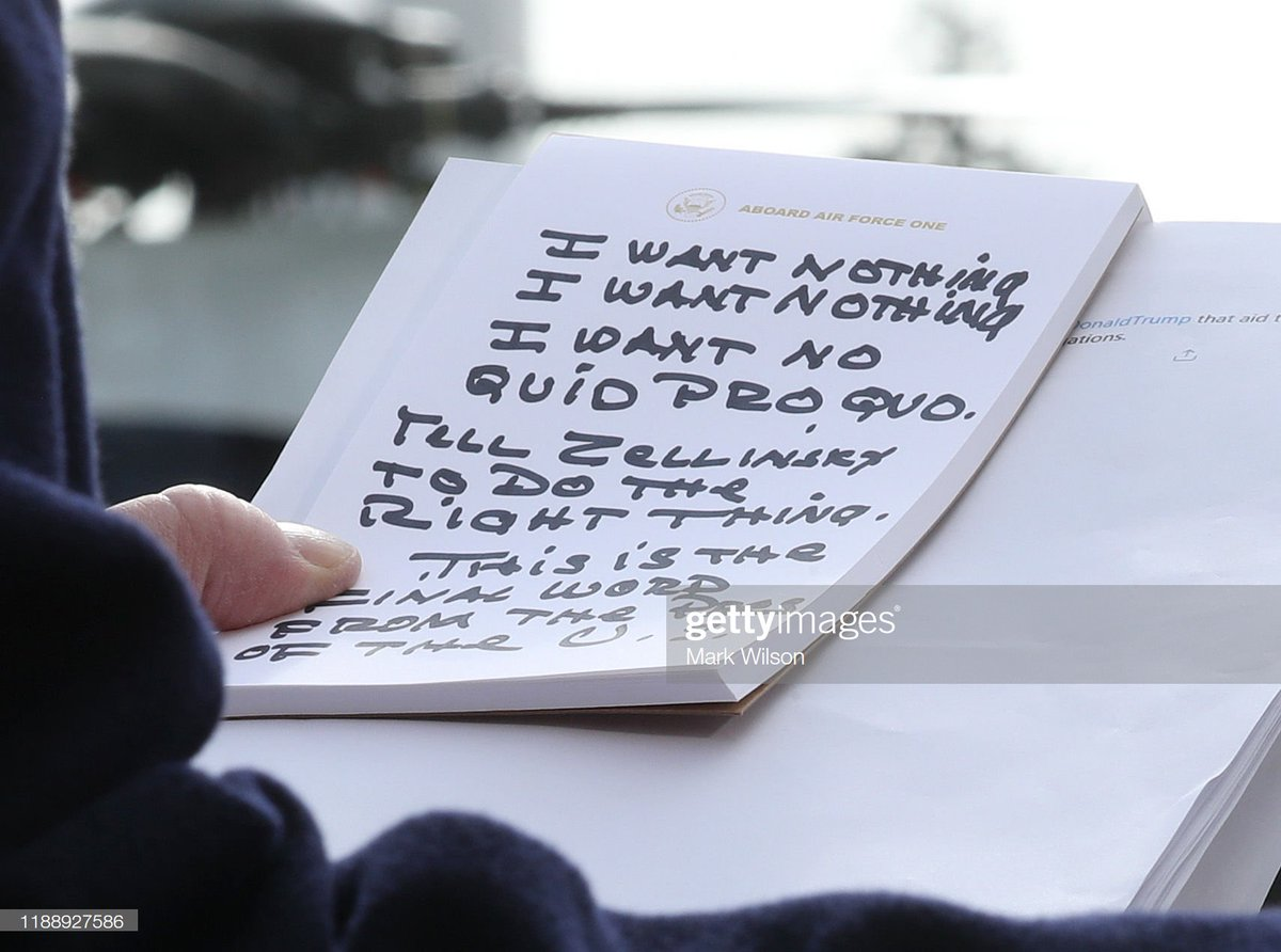 """Image result for donald trump note on the impeachment probe  twitter"""""""