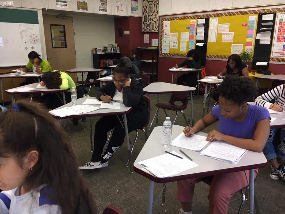 Our Seniors working hard on IB mock exams. @iborganization