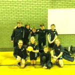 Our dodgeball team at the Partnership final #fab