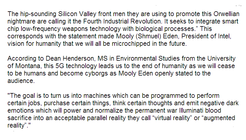 The hip-sounding Silicon Valley front men, they are using to promote this Orwellian nightmare are calling it the Fourth Industrial Revolution.