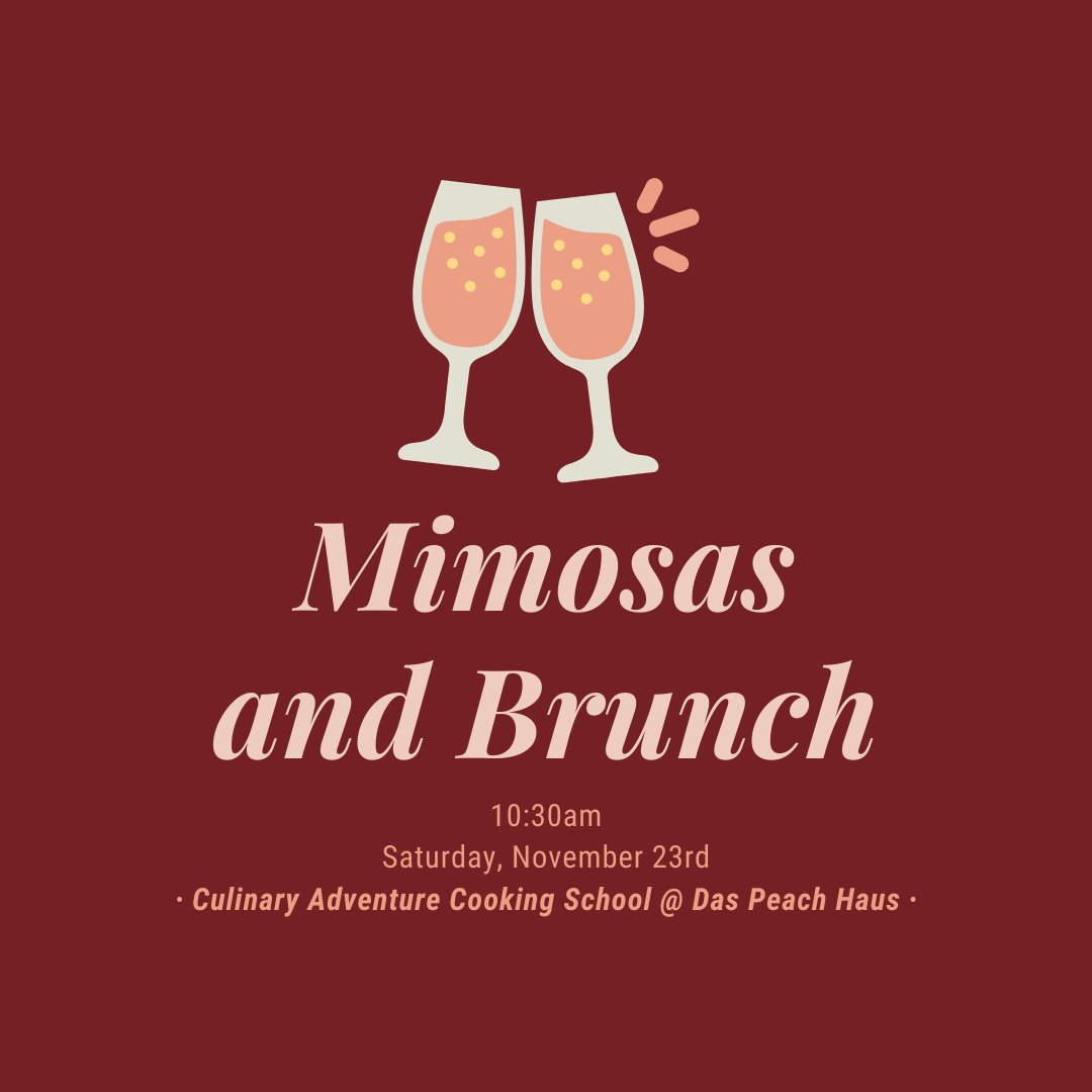 Join us and Chef Fernando this Saturday at 10:30am for a delicious brunch demonstration while sipping on some mimosas!   #fischerandwieser  #culinaryadventure  #event  #fredericksburg  #fredericksburgtx  #brunch  #mimosas