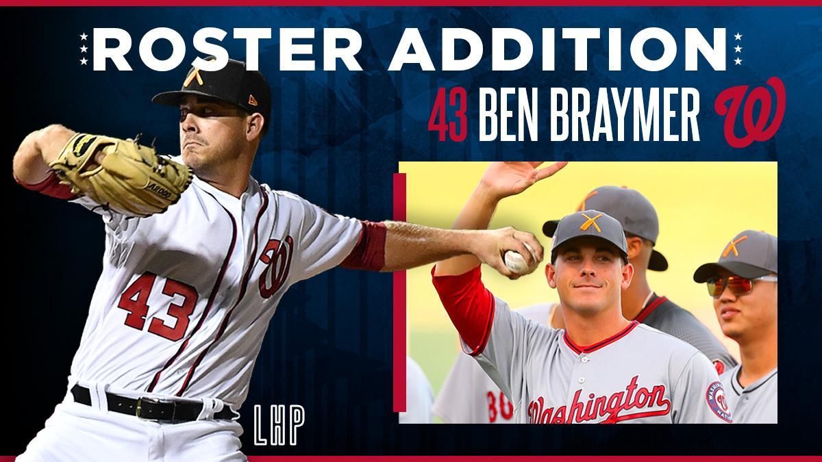 The World Series champion Washington Nationals have selected the contract of LHP Ben Braymer. 🔗 // atmlb.com/35hibaz