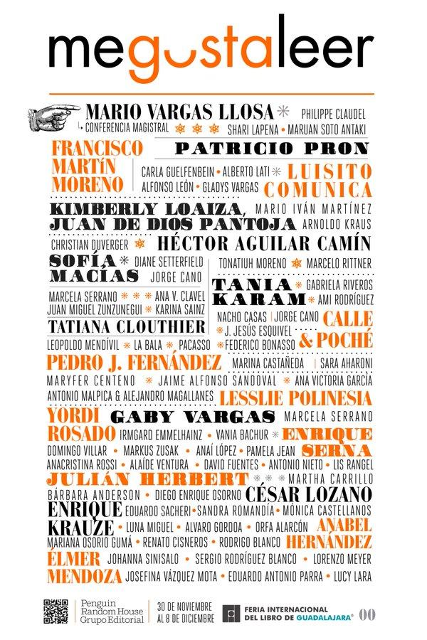 Cartel de Random House en la FIL resalta a influencers y minimiza a periodistas