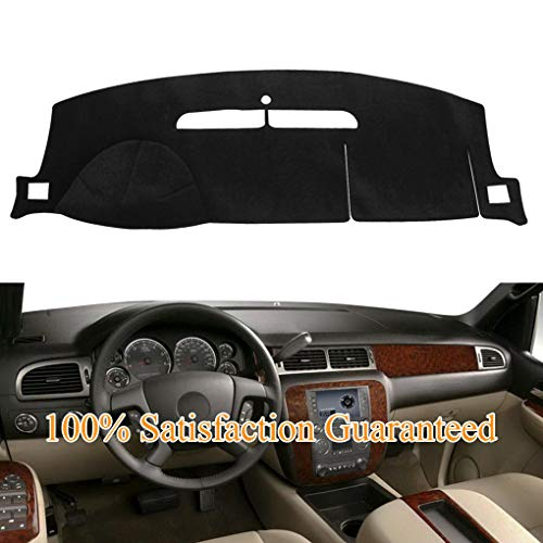 Black Fits 07-14 Chevy//GMC Selected Models Pickup Dashboard Mat Pad Dash Cover
