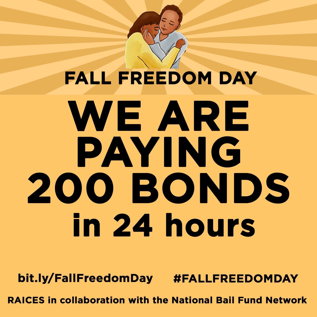 There are almost 50k people held in immigration jail RIGHT NOW. *If* a judge sets an immigration bond, the median bond amount is $10k, which most ppl can't afford.   Donate to an immigration bond fund to make a difference:  http://bit.ly/FallFreedomDay     #FallFreedomDay  #FreeThemAll
